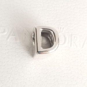 Pandora Letter D Alphabet Silver NWT 925 Ale